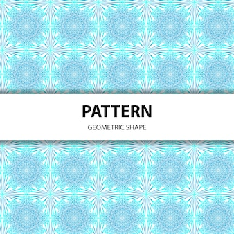 シームレスな幾何学的なマンダラパターン