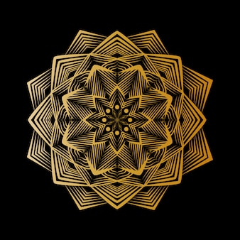 Креативная роскошная мандала с золотым узором арабески