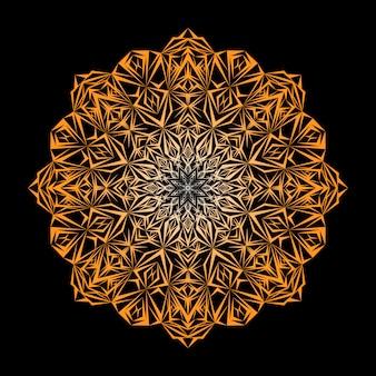 Роскошный декоративный фон дизайн мандалы в золотом цвете