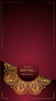 装飾的な金のマンダラ