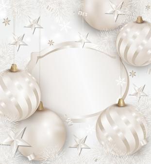 ホワイトクリスマスと新年の背景。
