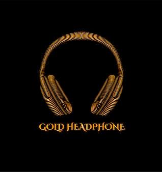 ゴールドヘッドフォンのロゴ