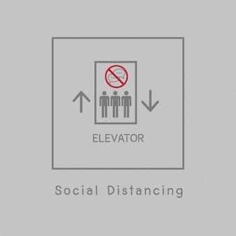 社会的距離の図