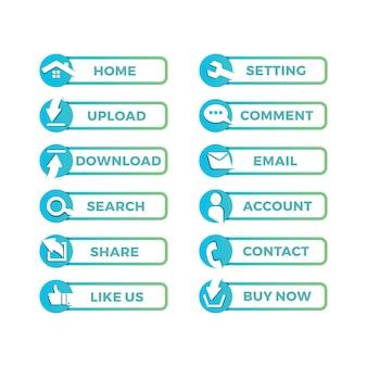 ウェブサイトのアイコンデザイン