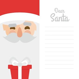 手紙、メリークリスマス、白、背景、愛するサンタクロース