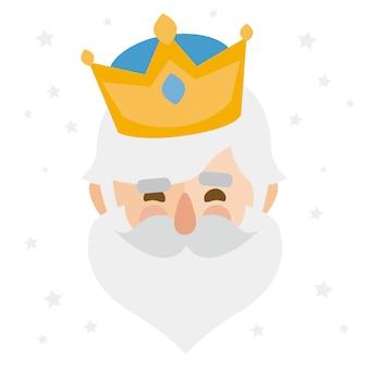 メルキオール王。クリスマスオーナメント