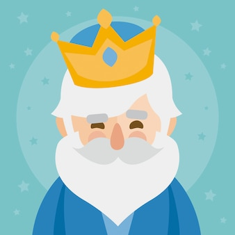 メルキオール王。星空に顔をする