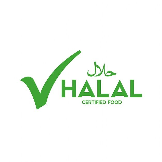 イスラム教徒の伝統的なハラル食品アイコンベクトル。バッジ、ロゴ、タグ、ラベル。バンに適しています