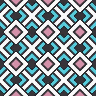 シームレスなベクトル幾何学的な色のパターンの背景