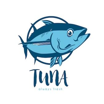 Дизайн тунец шаблон логотипа