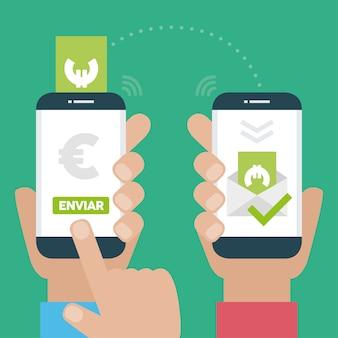 Мобильный телефон дизайн оплаты