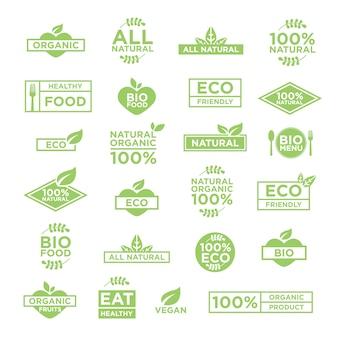 Эко шаблон логотипы