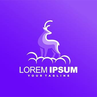 Волшебный олень градиент дизайн логотипа