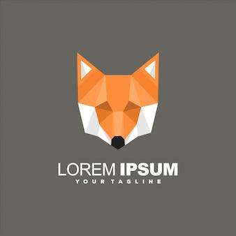 Голова лисы поли дизайн логотипа