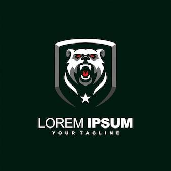 Превосходный злой медведь логотип