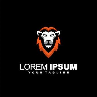 Превосходный логотип с головой льва