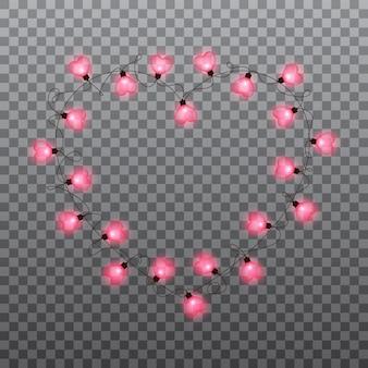 バレンタインデー電球ガーランド