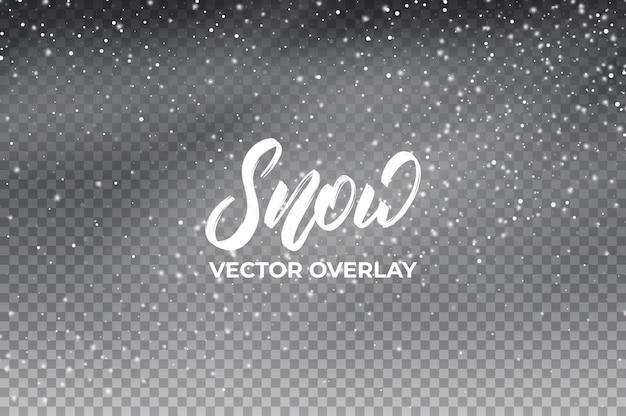 Снежный фон. реалистичное наложение снега.