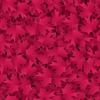 Клен бесшовные узор бумаги вырезать в бордовый цветовой палитры.