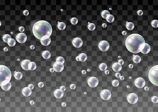 Мыльные веселые радужные пузыри