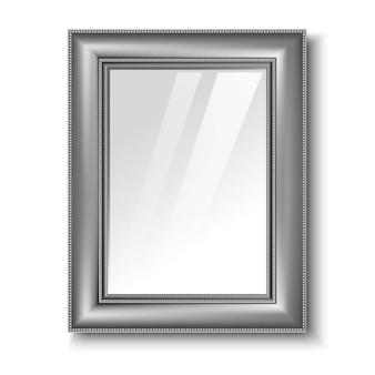 Ретро серебряная рамка