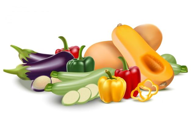 庭の野菜の分離セット