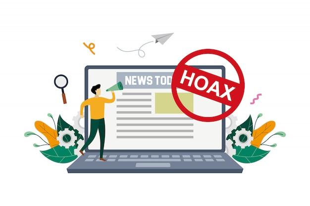 偽のニュースの概念図
