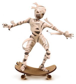 Египетский мультфильм мумия монстр ролл на скейтборде