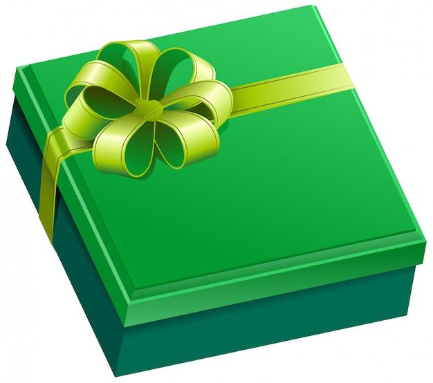 緑の正方形のギフトボックス