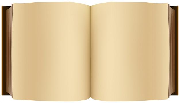 茶色の開いた本