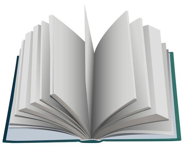 ハードカバーのオープンブックファンページ