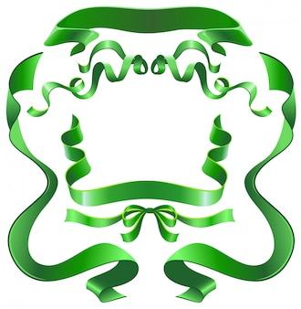 緑のリボンをセット