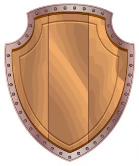 Деревянный щит со стальной окантовкой