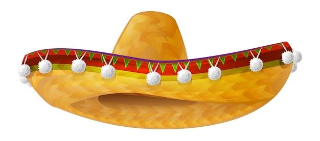 メキシカンハット。メキシコの広いつばの帽子ソンブレロ