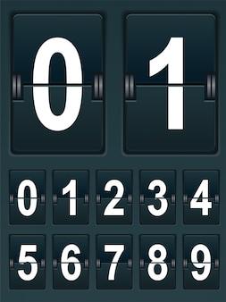 スポーツスコアボードの番号を設定する