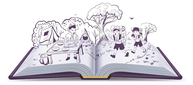Открытая книга. летний отдых скауты в лагере