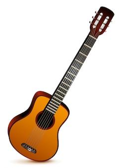 Шестиструнная акустическая гитара музыкальный инструмент