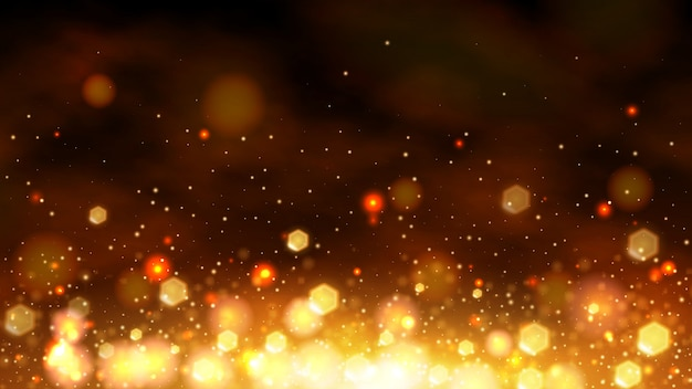 Золотой боке абстрактный фон баннера
