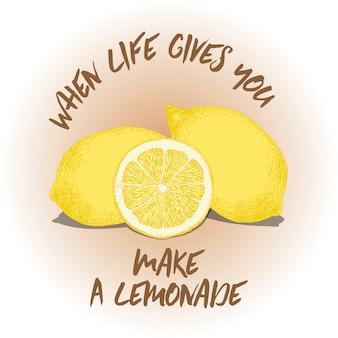 Фон цитаты лимона