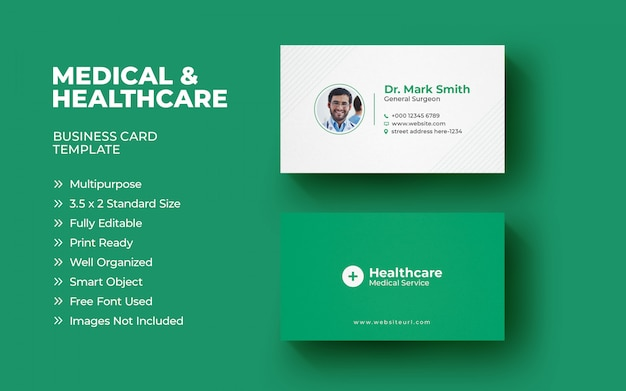 Шаблон медицинской визитки