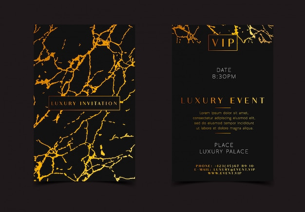 Элегантная открытка с королевской мраморной золотой текстурой.