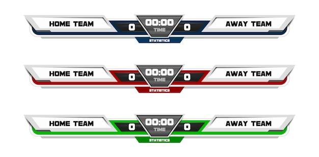 Спортивный шаблон табло для футбола, футбола.