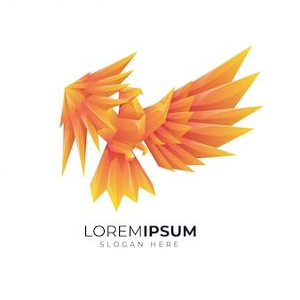 Красочная иллюстрация логотипа птицы