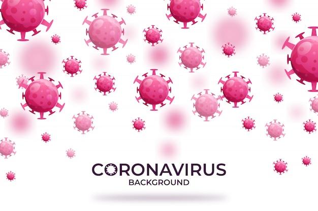 Вирусная инфекция или бактерии концепция фон премиум