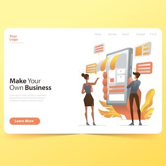 独自のビジネスランディングページを作成する