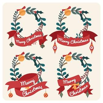 С рождеством цветочный знак для поздравительной открытки