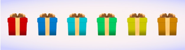 Реалистичный рождественский праздник коробка