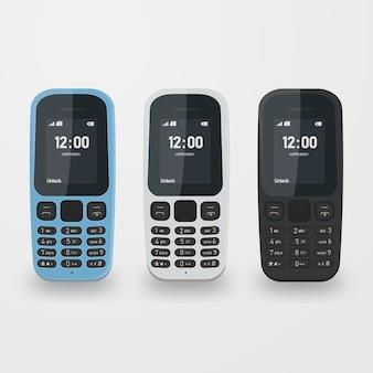 Современный набор мобильного телефона