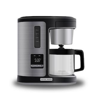 現実的なモダンなコーヒーメーカー