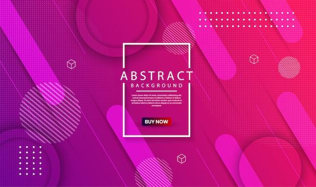 Современный абстрактный геометрический фон с динамическим градиентом